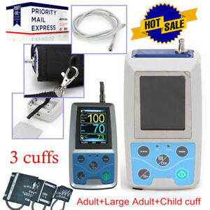 Ce Fda Ambulatory Digital Arm Blood Pressure Monitor Bp Machine 3 Cuffs pc Sw