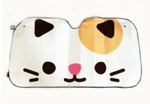 Daiso New Cute Cartoon Cat Car Windshield Sun Shade Design