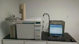 Hp 6890 With Fid Autosampler Computer software Tested Working