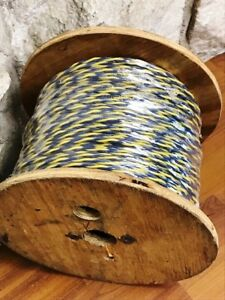 16 Awg Solid tpn1601 yellow blue Twisted Pair 750 Foot Roll