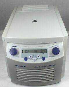 Eppendorf 5415r Refrigerated Centrifuge W Rotor Lid Working