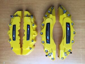 Yellow M Power Motorsport Disc Brake Caliper Cover For Bmw 2 Pcs 27cm 2 Pcs 24cm