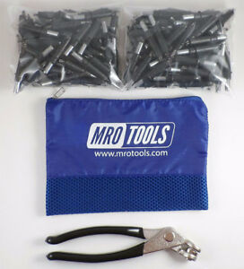 150 5 32 Cleco Sheet Metal Fasteners Plus Cleco Pliers W carry Bag k1s150 5 32