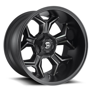 Fuel Deep Lip Avenger D605 Black And Machined With Dark Tint 20x12 44