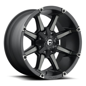 Fuel Deep Lip Coupler D556 Black And Machined With Dark Tint 22x12 44