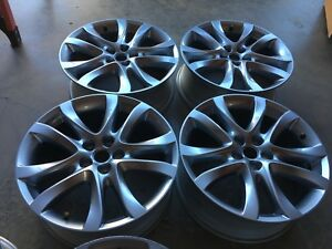 19 Inch Mazda 6 Oem Factory Silver Wheels Rims 9965087590a Set Of 4 No Caps