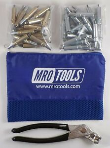 25 3 16 25 3 32 Cleco Fasteners Cleco Pliers W Mesh Carry Bag k4s50 5