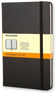 Moleskine Classic Ruled Pocket Notebook Soft Cover Black 3 5 X 5 5 In