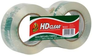 Duck Brand Hd Clear packaging Tape Clear 1 88 X 109 3 Yds 2 pack