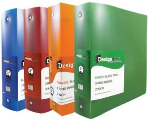 Jam Paper Assorted 2 Inch Width Plastic 3 Ring Binders Red Green Blue And