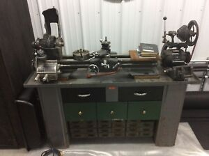 Lathe Work Bench With Chip Tray
