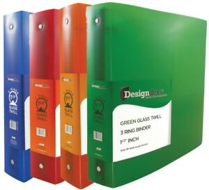 Jam Paper Assorted 1 1 2 Inch Width Plastic 3 Ring Binders Red Green Blue