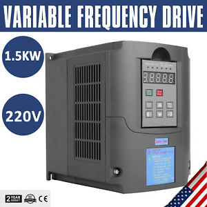 1 5kw 2hp Cnc 220v Variable Frequency Drive Speed Control Inverter Vfd