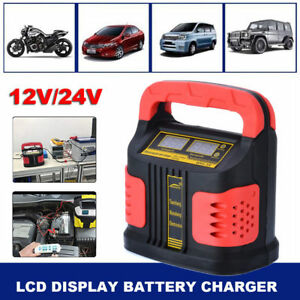 350w Lcd Auto Car Plus Adjust Battery Charger Jump Starter Booster 12v 24v Hot