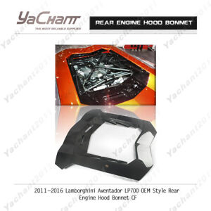 Carbon Bonnet Kit Fit For 11 16 Lamborghini Aventador Lp700 Oe Rear Engine Hood