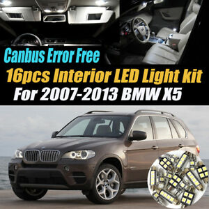 16pc 2007 2013 Bmw X5 Canbus Error Free Super White Car Interior Led Light Pack