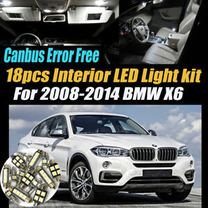 18pc 2008 2014 Bmw X6 Canbus Error Free Super White Car Interior Led Light Pack