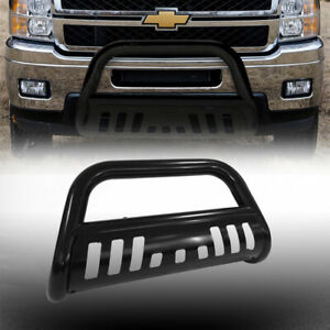 For 15 19 Chevy Colorado gmc Canyon Blk Bull Bar Brush Bumper Grill Grille Guard