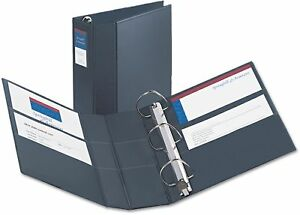 Avery Heavy duty Vinyl Ezd Ring Reference Binder W label Holder 4 Capacity