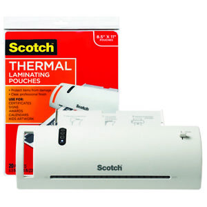 Scotch Thermal Laminator Includes Laminating Pouches 8 5 X 11 tl902vp