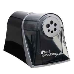 Westcott Electric Ipoint Evolution Axis Heavyduty Pencil Sharpener Black
