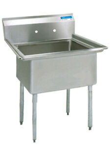 Bk Resources Bks 1 18 12 Commercial Stainless Steel 1 compartment Sink No Db