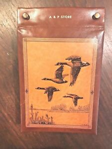 Vintage Leather Bound Memo Calendar Planner 1950