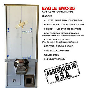 Eagle Cabinet 25 Inches 50 Capsule Toy Vending Machine new One Year Warranty