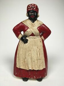 Wow Rare Antique Spencer Americana Mammy Cast Iron Doorstop Statue Early 1900