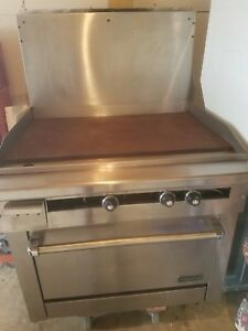 36 Inch Wide 3 Foot Commercial Gas Restaurant Griddle Range Flat Top Oven