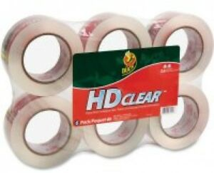 Duck Brand Hd Clear Packing Tape Clear 6 Pack quantity