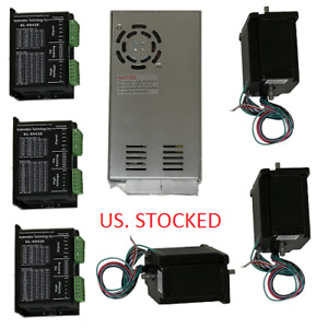 Us Shipped 3 Axis Cnc Kit 425oz in Nema 23 Stepper Motor Kl 5042e Driver