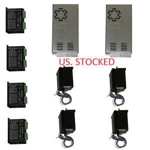 Us Shipped 4 Axis Cnc Kit 425oz in Nema 23 Stepper Motor Kl 5042e Driver