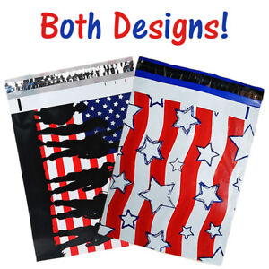 10x13 Military Soldier Patriotic Flag Poly Mailers Flat Shipping Envelope Bags