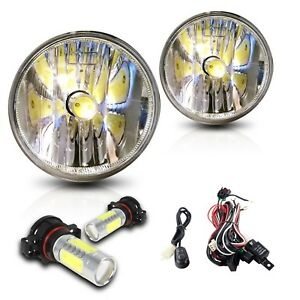 For 07 13 Chevy Avalanche Fog Lights W wiring Kit Cob Led Bulbs Clear