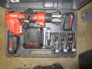 Ridgid Propress Rp 200 Hydraulic Crimper 4 Jaws Nice 2 2 0 Batterys Charger
