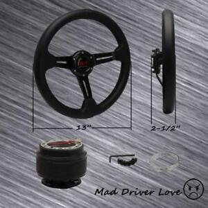 Black 13 2 5 Hi Steering Wheel Hub Adapter For 94 01 Integra 92 95 Civic Eg