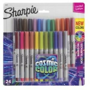 Sharpie Permanent Markers Ultra Fine Point Cosmic Color Limited Edition 24