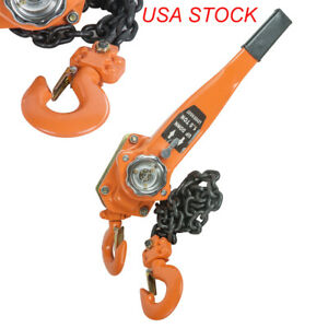 Chain Lever Block Hoist Come Along Ratchet Lift 1 5 Ton 3000lb Capacity Usa