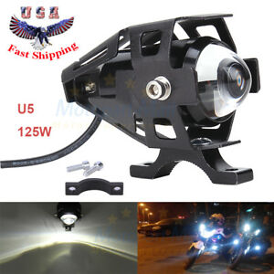 125w Cree U5 Led Headlight Motorcycle Driving Fog Spot Bulb Light Waterproof Us