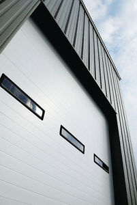 Duro Steel Amarr 2402 Series 10 Wide By 12 tall Commercial Overhead Garage Door