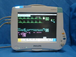 Philips Intellivue Mp50 Monitor With M3001a Ecg Nipb Spo2 Accessories M8004a