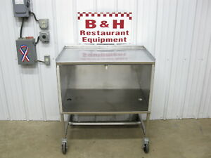 36 X 24 Stainless Steel Heavy Duty Mobile Work Table Cabinet 3 X 2