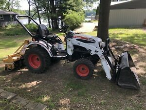 2008 Bobcat Ct122 Compact Tractor With Front Loader And Tiller