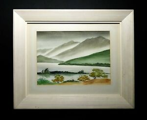Kenneth K Higashimachi Japan Us 1901 1991 Hawaiian Landscape W C Orig Frame