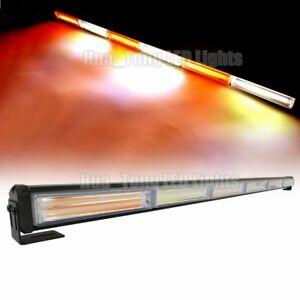35 108w Cob Led Warning Emergency Traffic Advisor Strobe Lights Bar Amber White