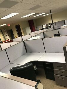 Used Office Cubicles 6hx6 Desk Filing Cabinet Inc Local Pickup delivery Av