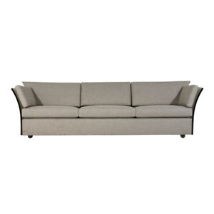 Mid Century Modern Style Sofa By Milo Baughman Newly Upholstered In Gray Fabric