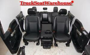 2016 Ford F150 Black Leather Interior Truck Seats Power Heated Cooled