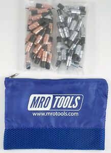 25 1 8 25 3 32 Extra Short Cleco Fasteners W Mesh Carry Bag kk3s50 3